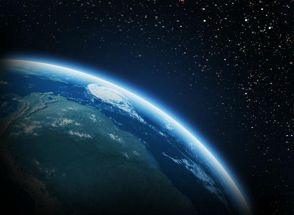 ziemia z kosmosu - widok z orbity