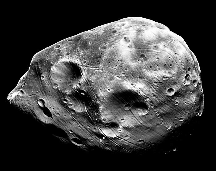 Fobos - zdjęcie jednego z księżyców Marsa.