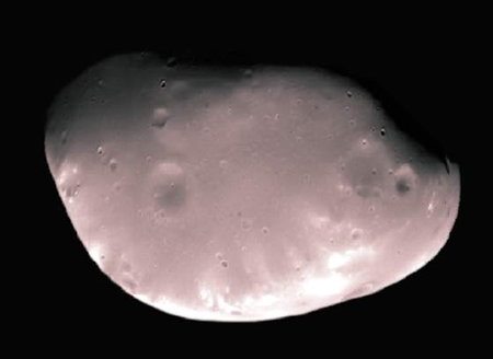 Deimos (Dejmos) - zdjęcie najmniejszego księżyca Marsa.