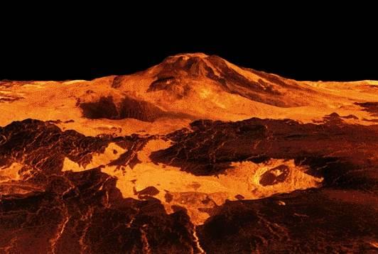 Wenus - zdjęcie krateru wulkanicznego