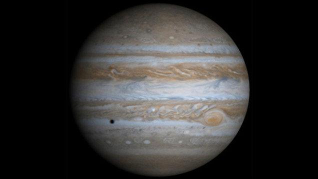 Zdjęcie Jowisza - 5. planeta Układu Słonecznego oddalona od Słońca.