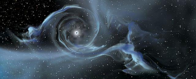 Czarna dziura w Galaktyce M87, osiągająca masę 6,6 miliarda mas Słońca. Galaktyka M87 znajduje się w odległości 50 milionów lat świetlnych od Ziemi.