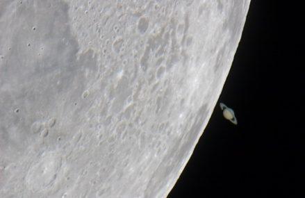 Już 2 lutego planeta Saturn zniknie za Księżycem … na kilkadziesiąt minut