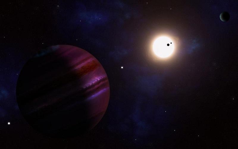 Artystyczna wizja układu słonecznego Kepler-11. Fotografia: fruugo.com.