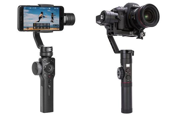 gimbale Zhiyun Smooth 4 i Zhiyun Crane 2 - stabilizatory obrazu do telefonu smartfona i kamery