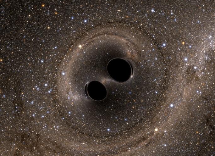 Czarna dziura w galaktyce centralnej Holm 15A. Artystyczna wizja supermasywnej czarnej dziury, mającej około 40 mld mas Słońca. Źródło fotografii: universetoday.com.