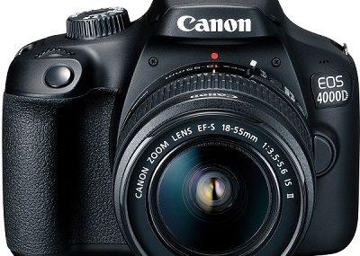 Lustrzanka Canon EOS 4000D – opis możliwości aparatu