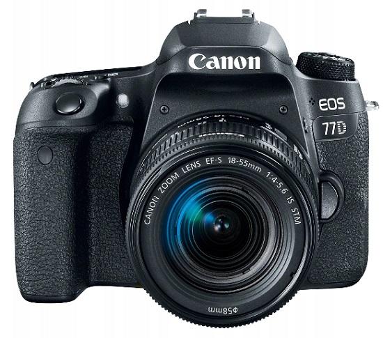 lustrzanka cyfrowa Canon EOS 77D z jednym obiektywem i matrycą Dual Pixel
