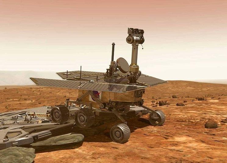 łazik Curiosity na powierzchni Marsa, fotografia: cbsnews.com