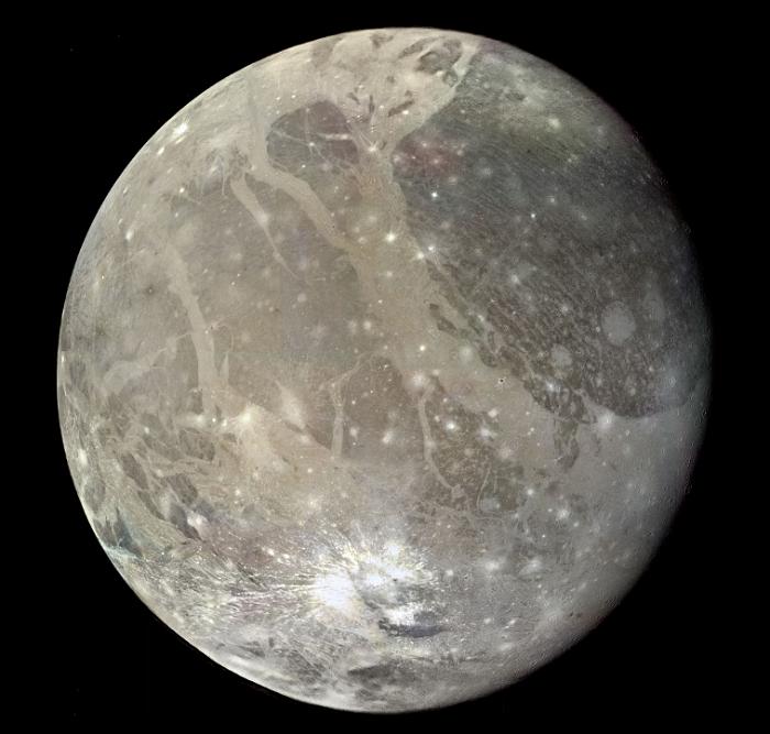 Ganimedes, największy księżyc Jowisza
