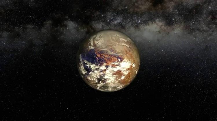 Proxima b - artystyczna wizja skalistej planety, krążącej wokół czerwonego karła Proxima Centauri, oddalonego od nieco ponad 4 lata świetlne od Słońca. Fotografia: ytimg.com, ESO.org.