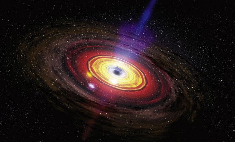 Sagittarius A* - supermasywna czarna dziura w centrum Drogi Mlecznej. Wizja artystyczna. Fotografia: sci-news.com.