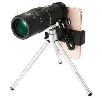 teleskop monokularowy wykorzystujący aparat ze smartfona
