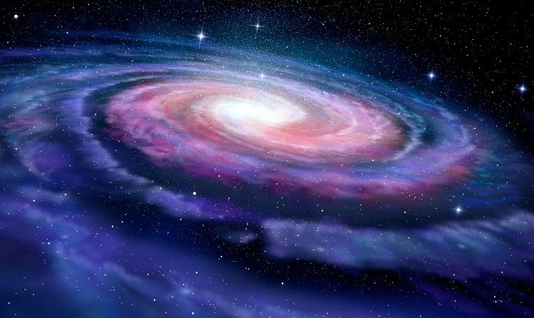 Droga Mleczna - przykład galaktyki spiralnej. Wizja artystyczna. Fotografia: scitechdaily.com.