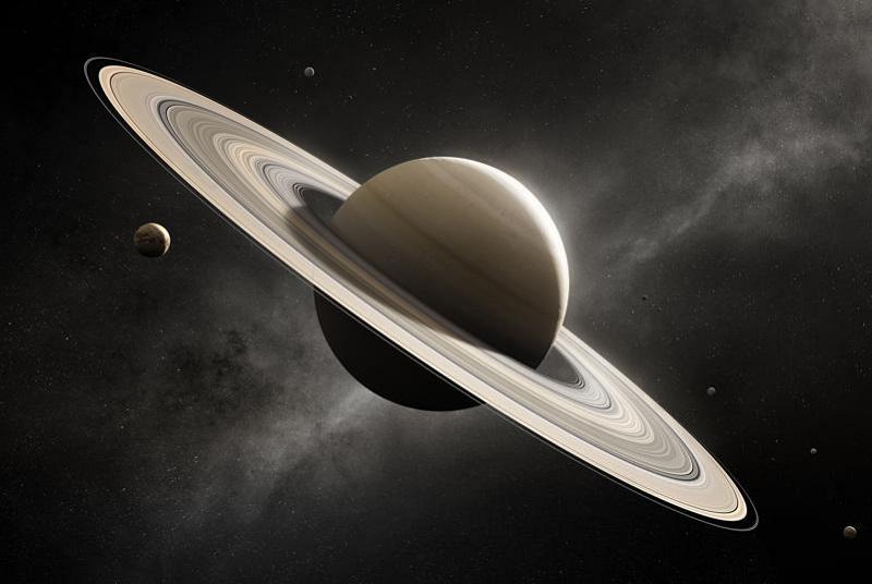 Artystyczna wizja planety Saturn z charakterystycznymi pierścieniami. Fotografia: Forbes.