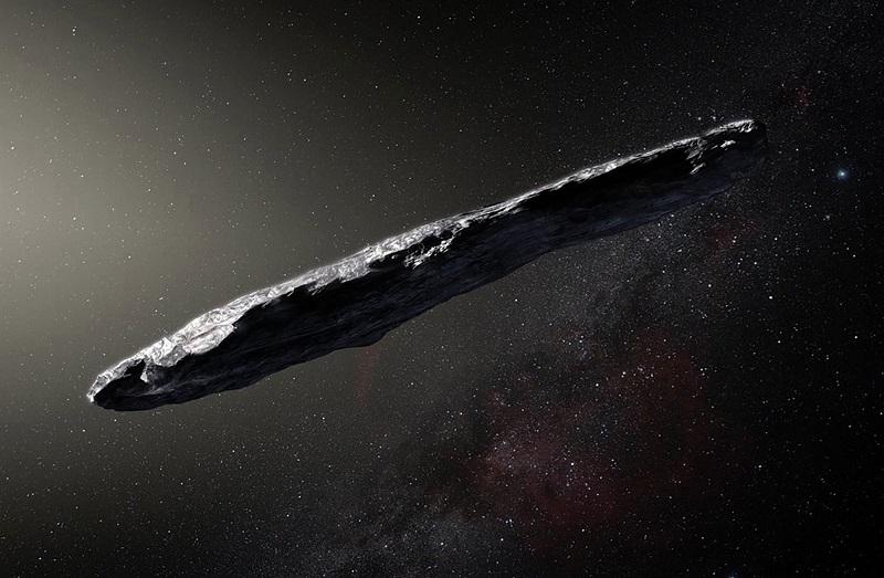 Planetoida 1I/'Oumuamua - fotografia poglądowa. Źródło: somagnews.com.