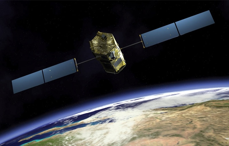 Kosmiczny Teleskop TESS na orbicie okołoziemskiej [wizualizacja]. Źródło: spacenews.com.