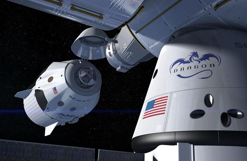 Dokowanie kapsuły Dragon Endeavour w ramach misji Crew-2 na ISS [wizualizacja]. Źródło: teslarati.com.